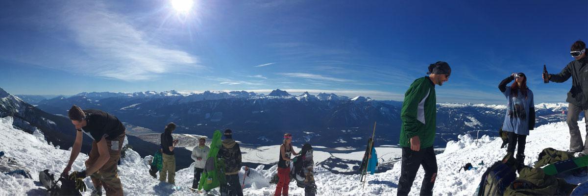 Snowboarding in Revelstoke BC
