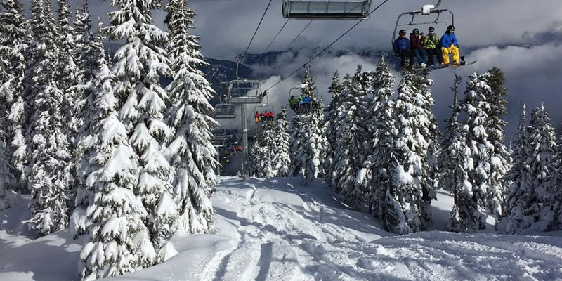 View of Whistler Blackcomb Ski-Lift