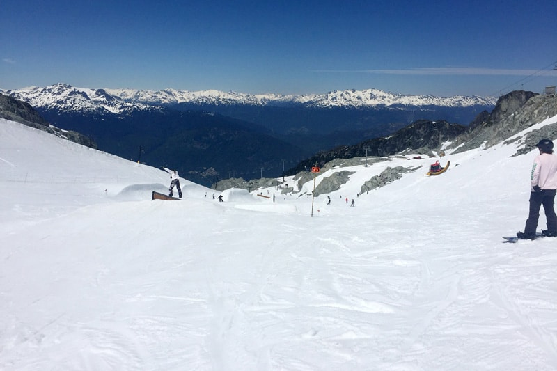 Riding the Top of Blackcomb